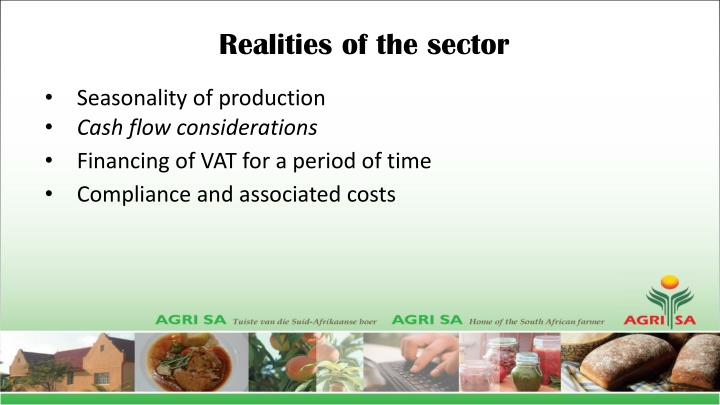 Realities of the sector