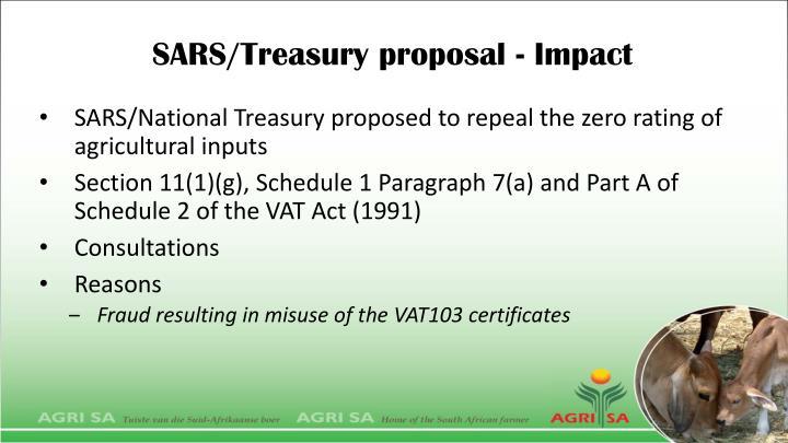 SARS/Treasury proposal - Impact