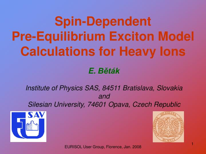 spin dependent pre equilibrium exciton model calculations for heavy ions n.