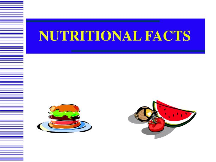 nutritional facts n.