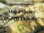 creative acquisitions