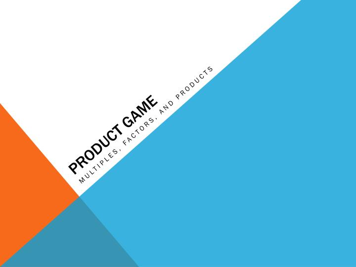 product game n.