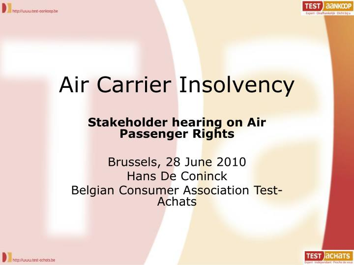 air carrier insolvency n.