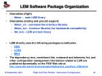 lem software package organization
