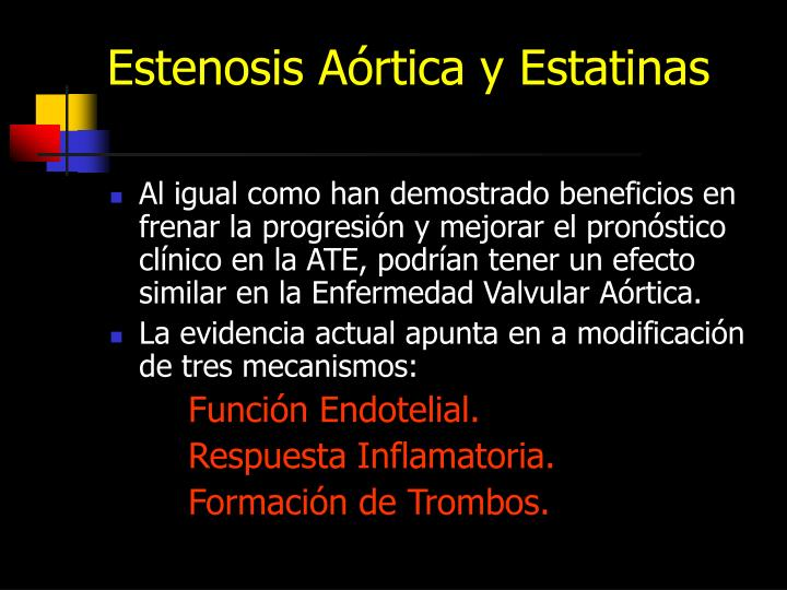Estenosis Aórtica y Estatinas