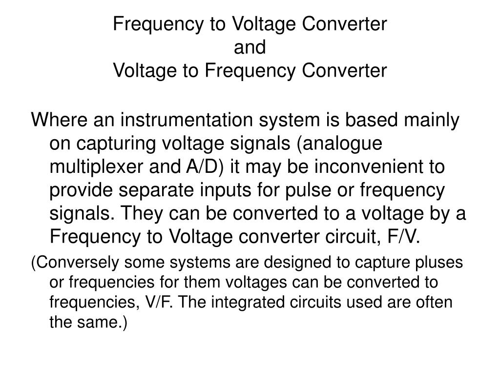 Ppt Frequency To Voltage Converter And Wide Input Range Analog Mux N