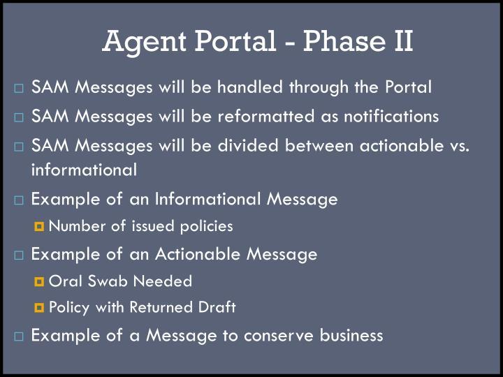 Agent Portal - Phase II