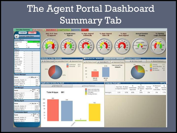 The Agent Portal Dashboard