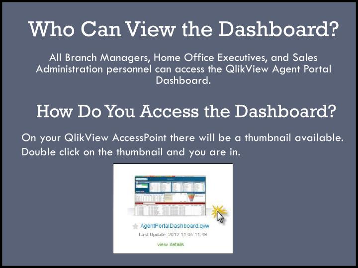 Who Can View the Dashboard?