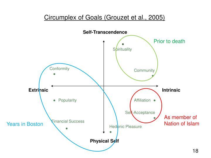 Circumplex of Goals (Grouzet et al., 2005)