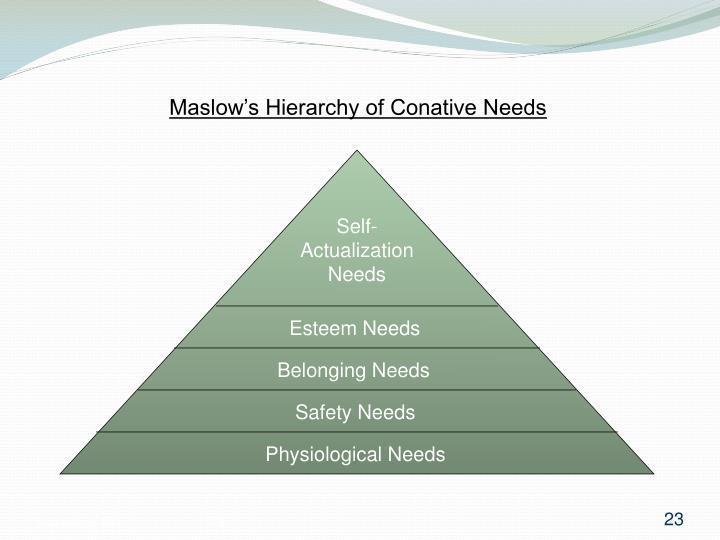 Maslow's Hierarchy of Conative Needs