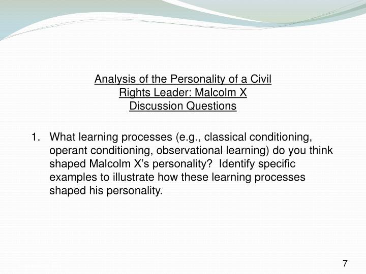 Analysis of the Personality of a Civil