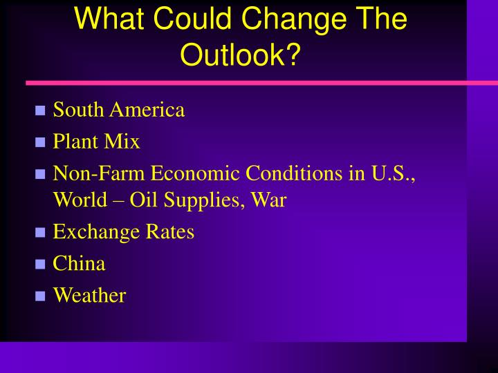 What Could Change The Outlook?