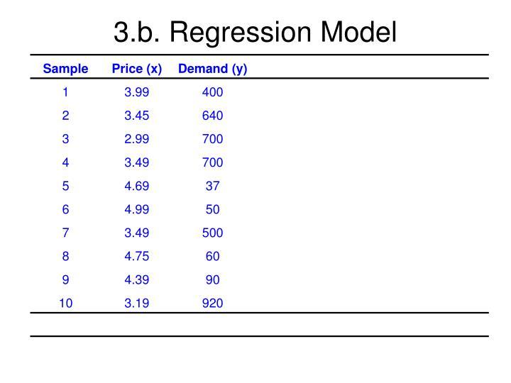 3.b. Regression Model