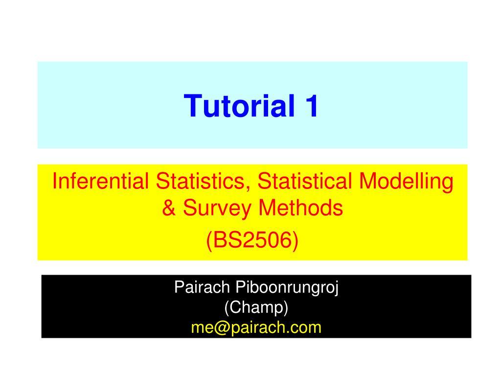 PPT - Tutorial 1 PowerPoint Presentation - ID:5851080