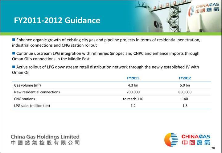 FY2011-2012 Guidance