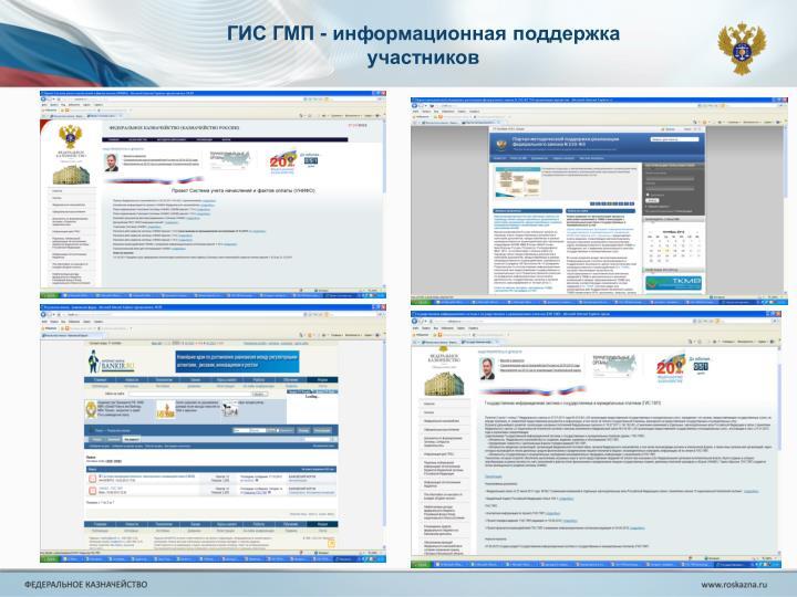 ГИС ГМП - информационная поддержка участников