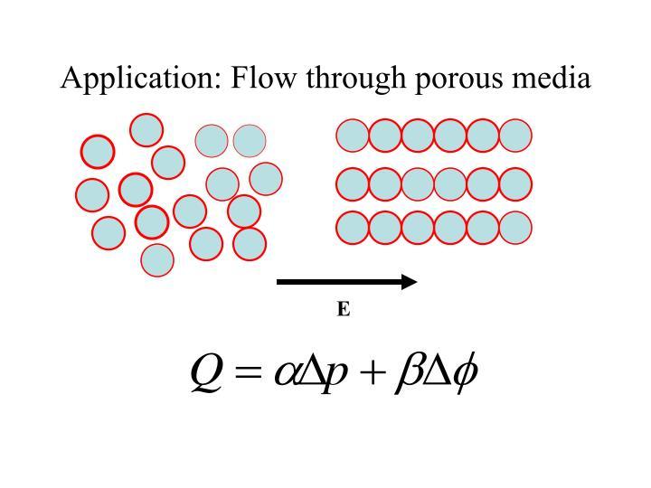 Application: Flow through porous media