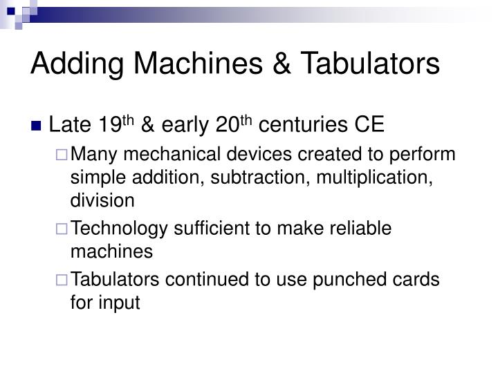 Adding Machines & Tabulators
