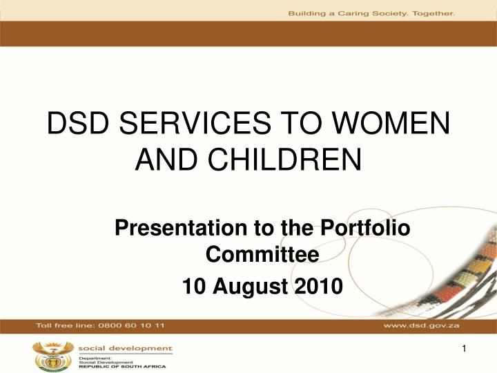 dsd services to women and children n.