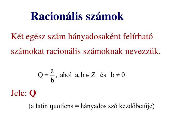 Racionális számok