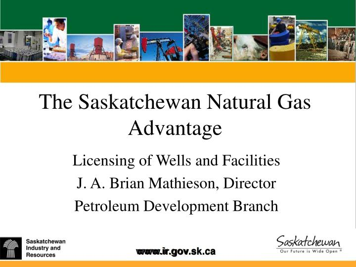 the saskatchewan natural gas advantage n.