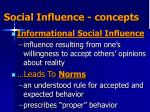social influence concepts