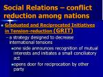 social relations conflict reduction among nations