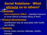 social relations what attracts us to others