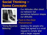 social thinking some concepts