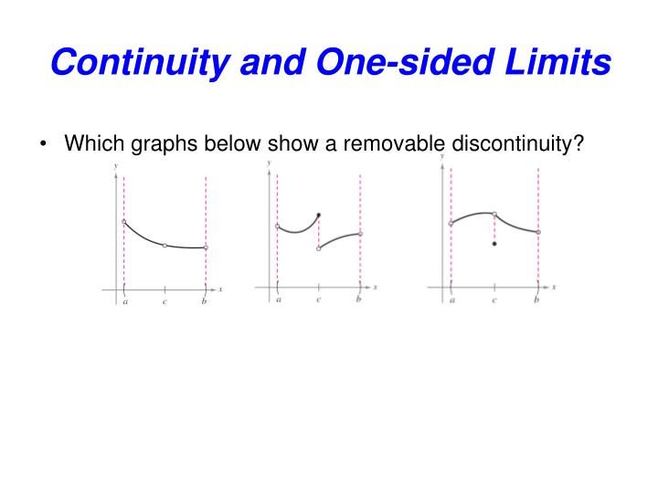 Continuity and one sided limits2