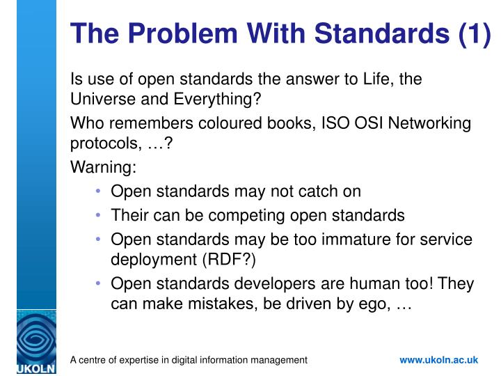 The Problem With Standards (1)
