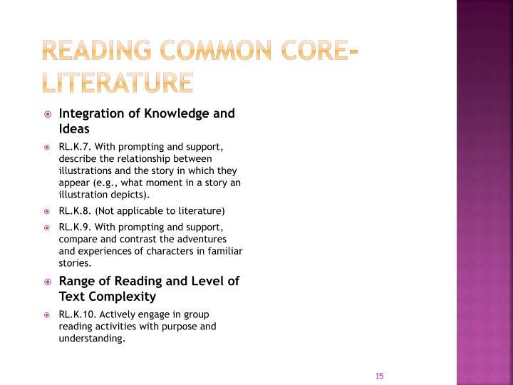 Reading COMMON CORE- LITERATURE