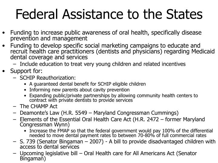 Federal Assistance to the States