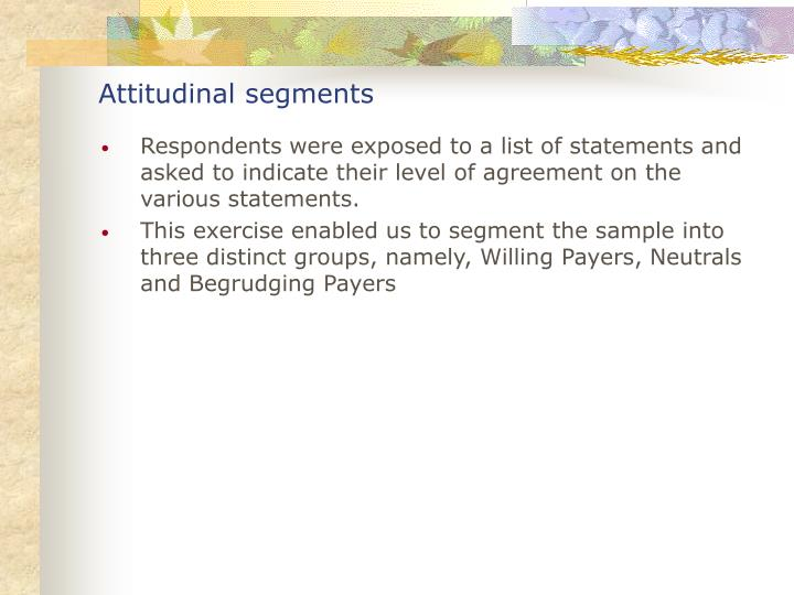 Attitudinal segments