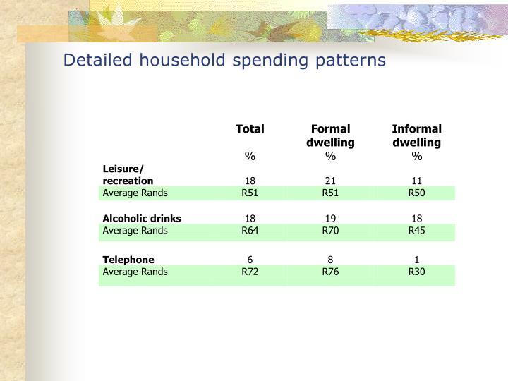 Detailed household spending patterns