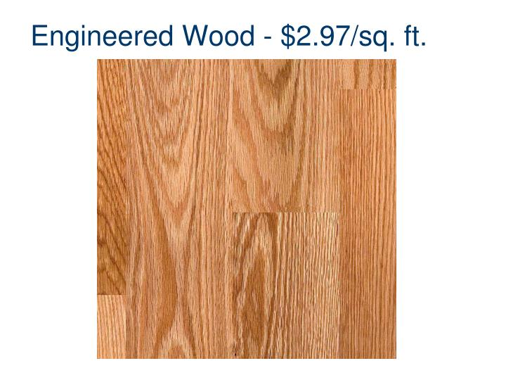 Engineered wood 2 97 sq ft