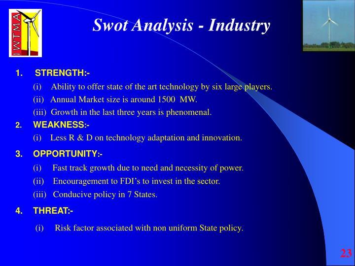 Swot Analysis - Industry