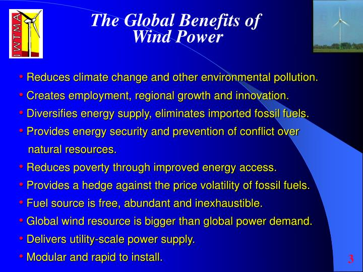 The Global Benefits of