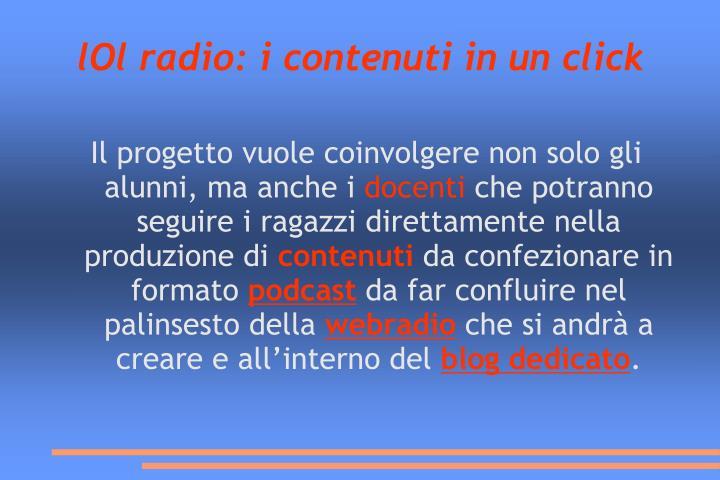 lOl radio: i contenuti in un click