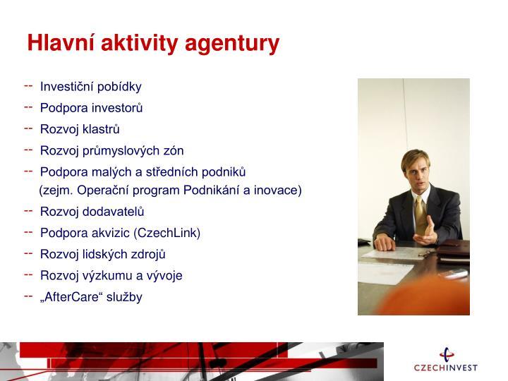 Hlavn aktivity agentury