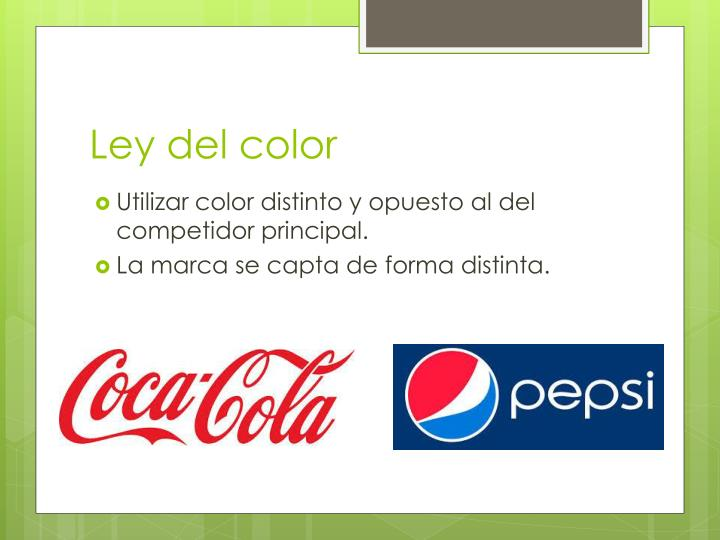 Ley del color