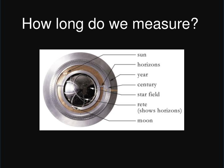 How long do we measure?