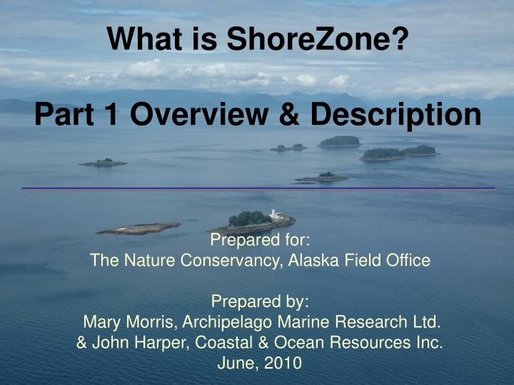 what is shorezone part 1 overview description n.