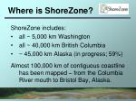where is shorezone
