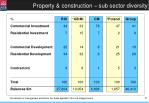 property construction sub sector diversity