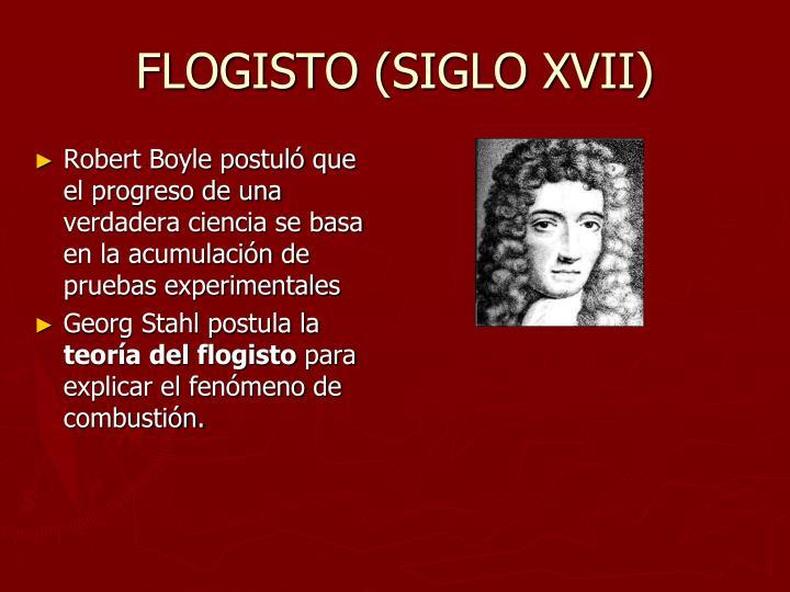 FLOGISTO (SIGLO XVII)