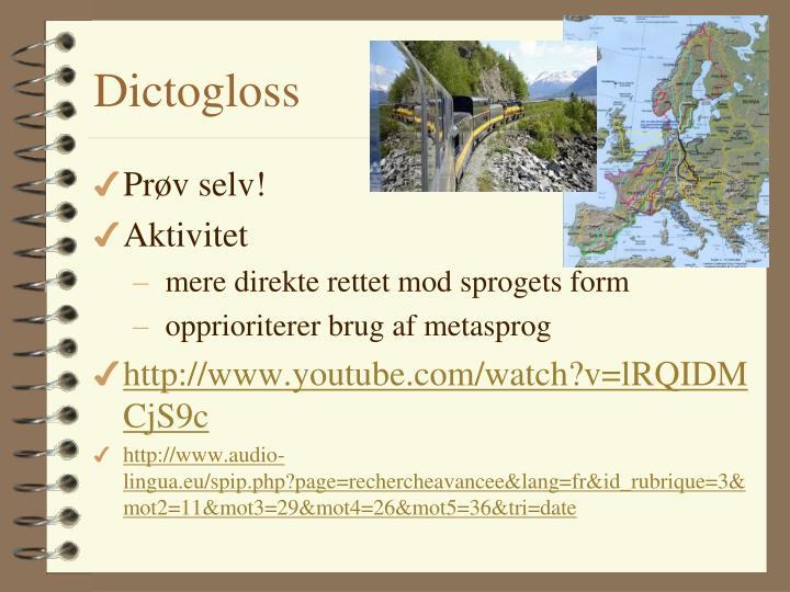 Dictogloss