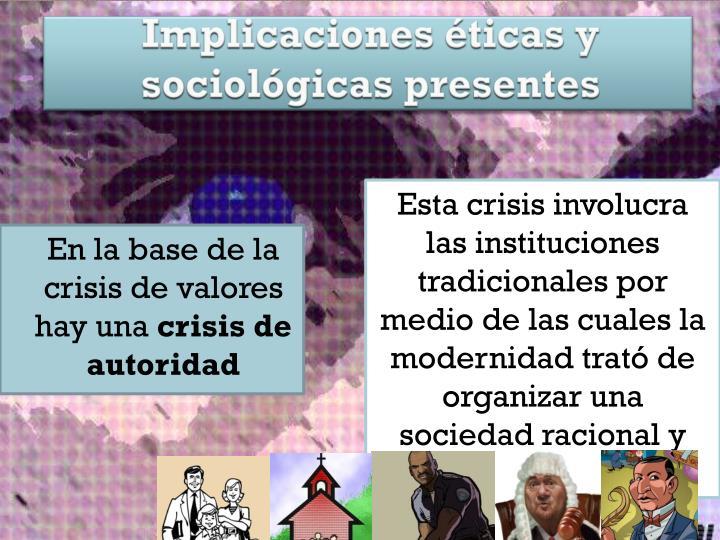 Implicaciones éticas y sociológicas presentes