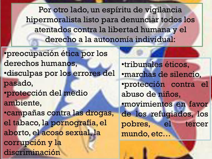 preocupación ética por los derechos humanos,